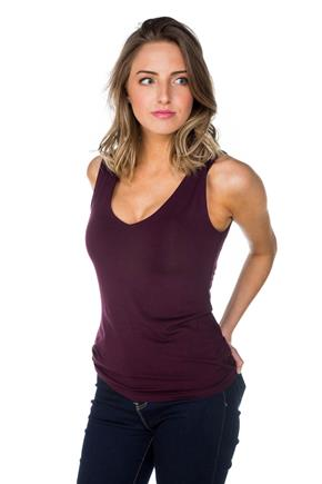 Sleeveless Clean Edge V-Neck