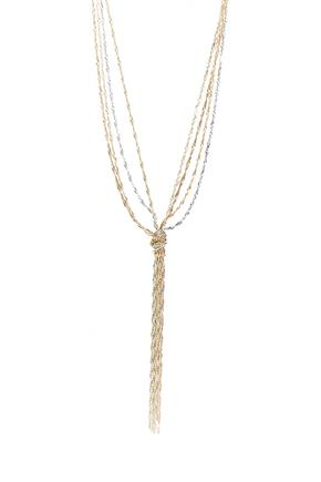 Three Metal Knotted Necklace
