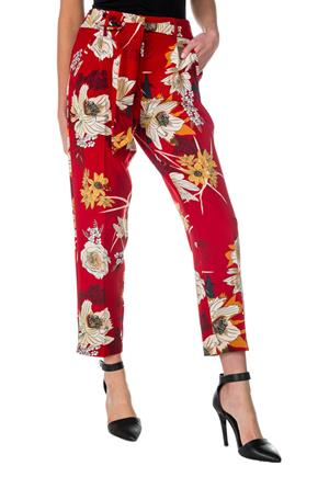 Floral Pleated Ankle Length Pant