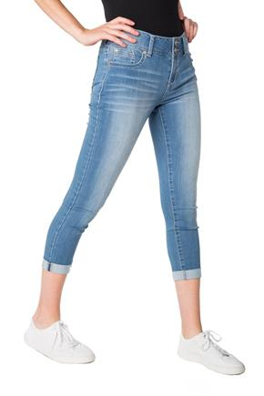 WallFlower Amal Wash Insta-Soft Skinny Cuffed Capri