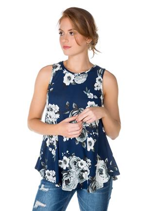 Rose Sleeveless Tunic