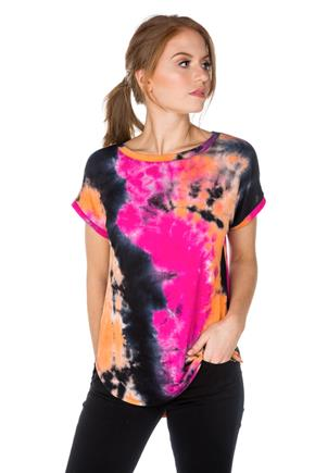 Tie-Dye Tunic with Shirttail Hem