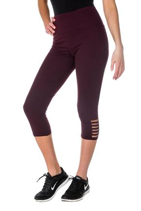 Athletic High Waisted Cropped Legging with Ladder Detail