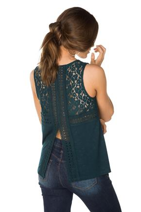 Sleeveless Tank with Split Back
