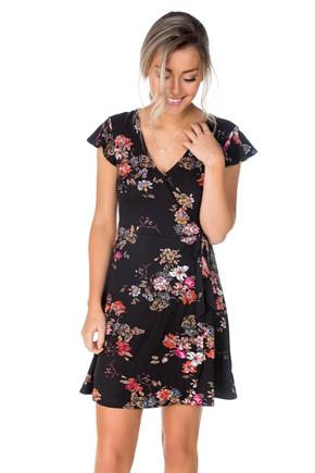 WallFlower Floral Crossover Dress