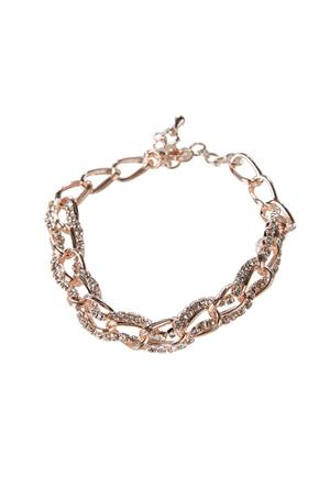 Rhinestone Strand and Chainlink Bracelet