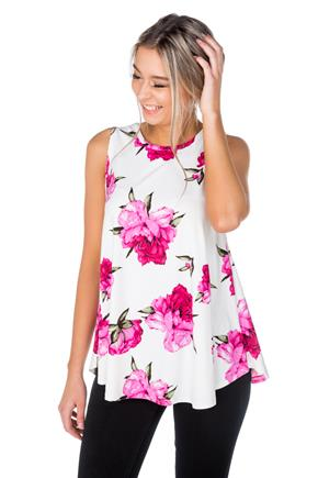 Floral Sleeveless Swing Tunic