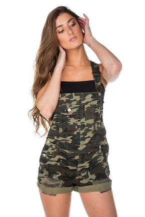 Almost Famous Camouflage Shortall