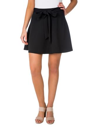 Skater Skirt with Tie-Belt