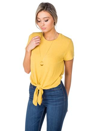Short Sleeve Tie-Front Top