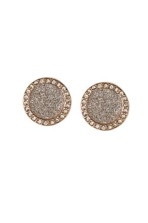 Rhinestone and Glitter Circle Studs
