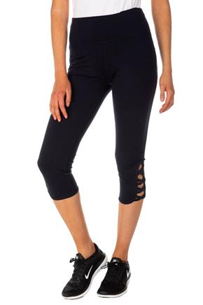 Athletic Capri Legging with Criss Cross Detail