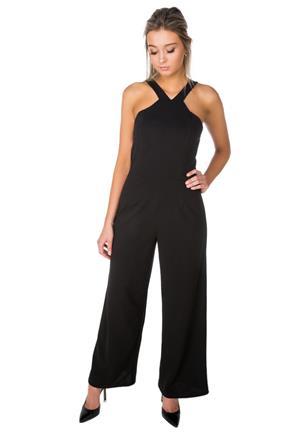 046e7573527c Wide Leg Jumpsuit with V Halter Neck