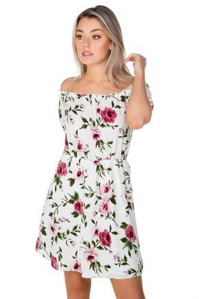 a4d88e0ab73 Floral Off-the-Shoulder Peasant Dress