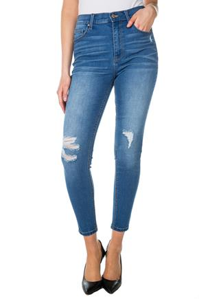 Celebrity Pink Kilington Wash Distressed High-Rise 5 Pocket Skinny