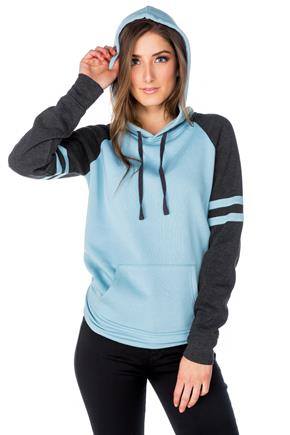 Fleece Colour-Blocked Varsity Hoodie