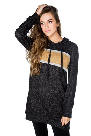 SuperSoft Hoodie with Chest Stripe