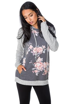 Floral Hoodie with Supersoft Sleeves