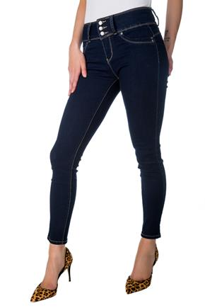 "Tattoo ""Jorja"" Rinse Wash Mid-Rise Push-Up Skinny Jean"