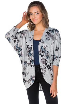 Butterfly and Floral Cocoon Cardigan