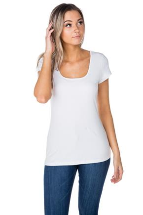 Cap Sleeve Square Neck Tee