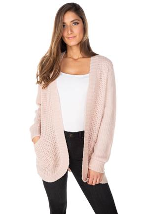 Knit Open Cardigan with Pockets